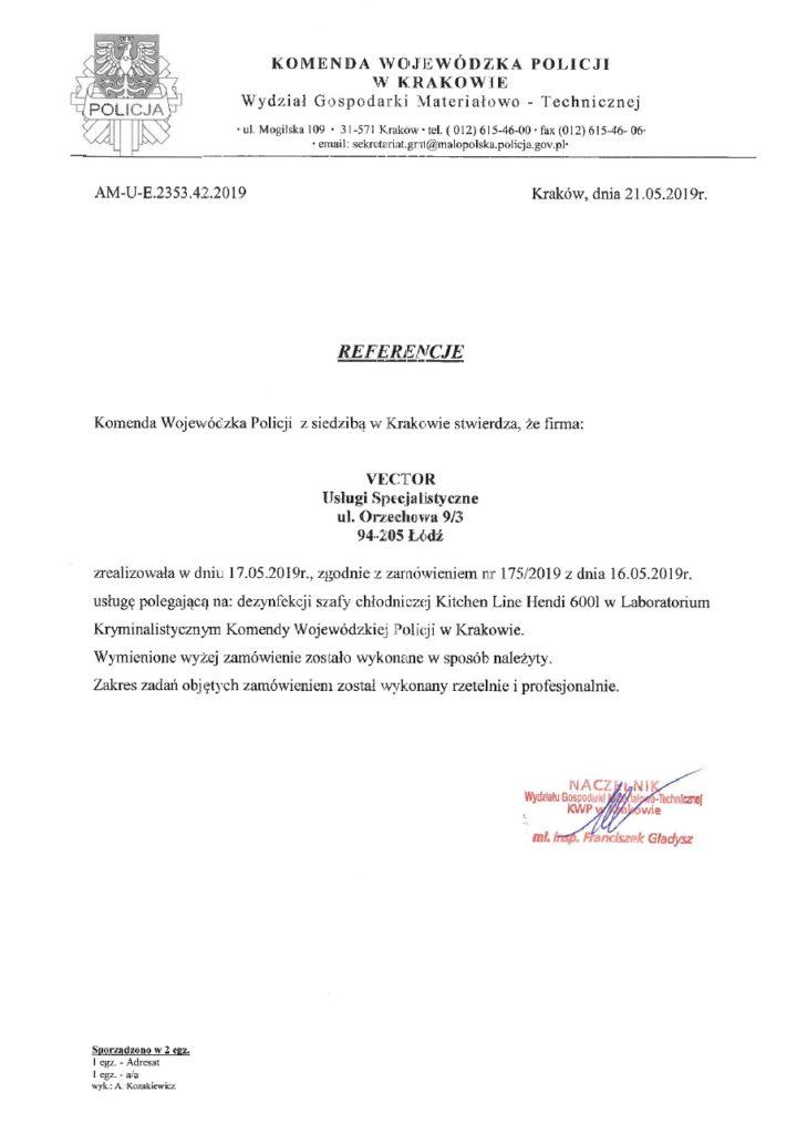 Referencje Komenda Wojewódzka Policji
