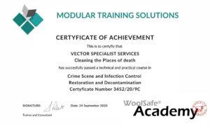 Certyfikacja - sprzątanie po zgonie